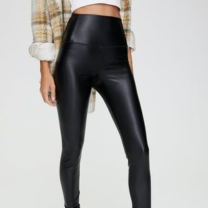 Daria vegan leather pants from aritzia